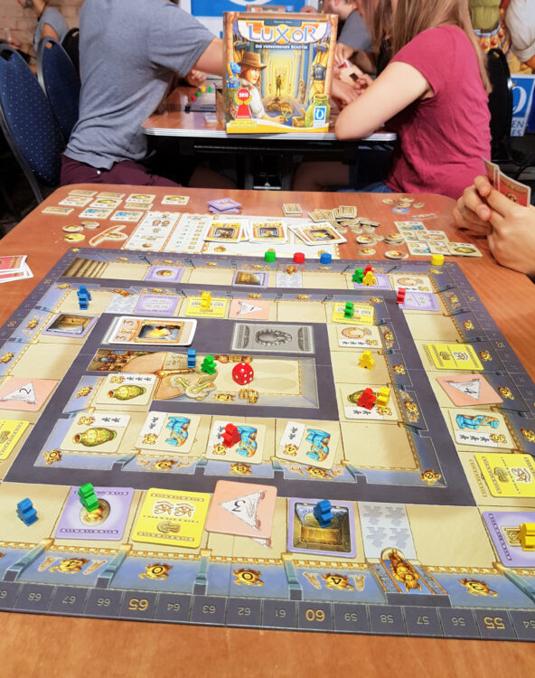 Berlin Brettspiel Con 2018 Brettspielmesse Gesellschaftsspiele Familienspiele Kinderspiele Queen Games Luxor