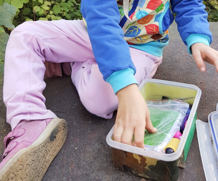 Geocaching-Box mit Trackable