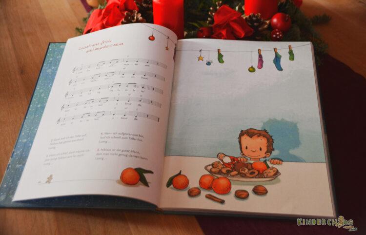 Joëlle Tourlonias Illustration im Weihnachtsliederbuch