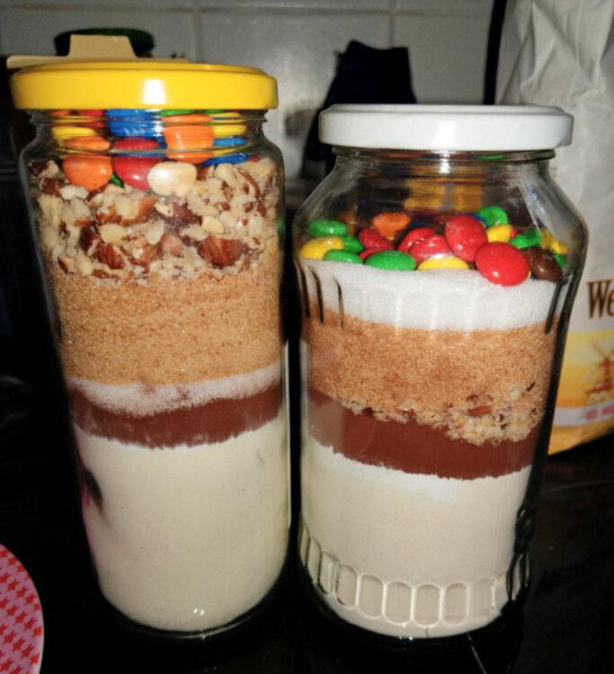 selbstgemachte Backmischung im Glas - Cookies