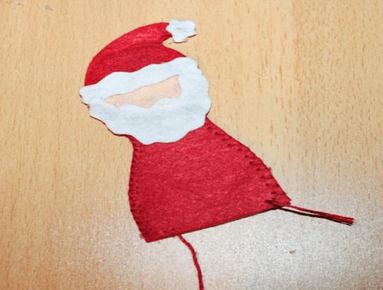Filzanhänger Weihnachtsmann