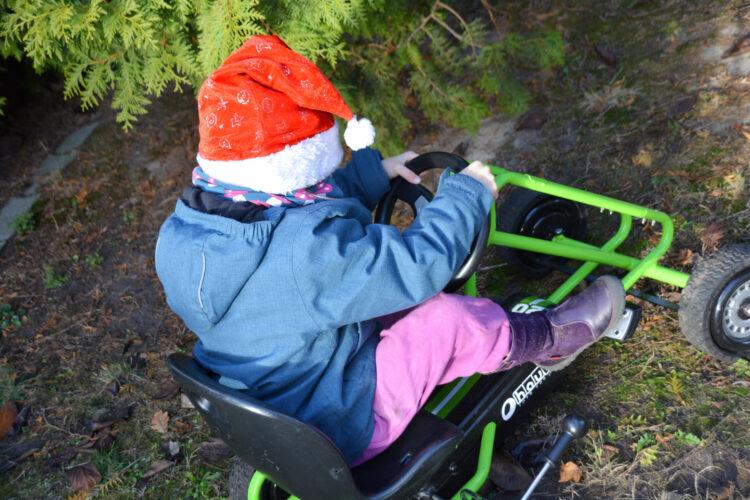 Weihnachtsmann Kinder Go-Kart