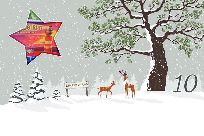 10. Adventskalendertürchen: Spieleabend mit Lighthouse Run von Amigo