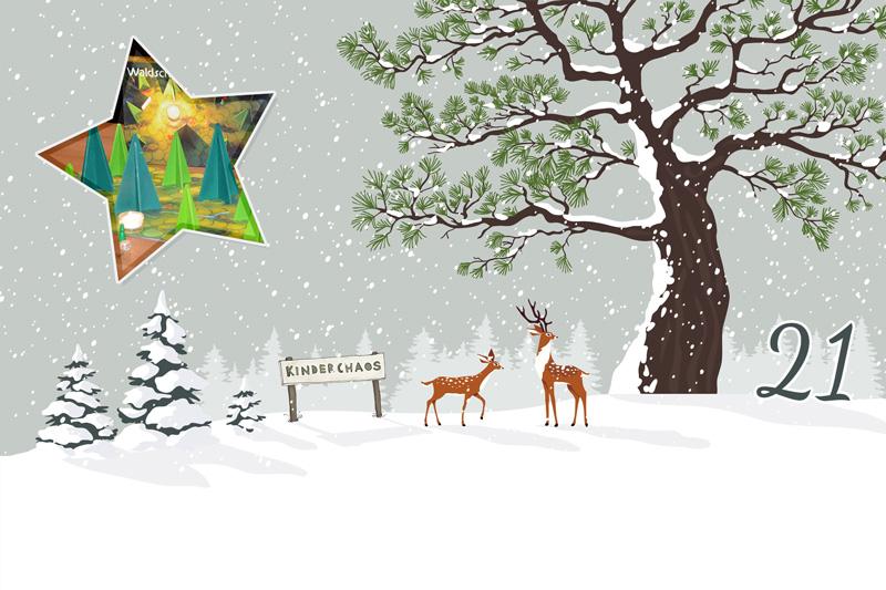 21. Adventskalendertürchen: Das Waldschattenspiel – Ein kooperatives Waldorf-Kinderspiel