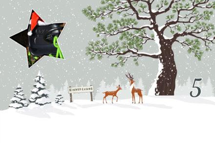 5. Adventskalendertürchen: Der Weihnachtsmann und sein neues Gefährt