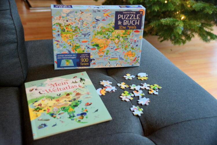 Puzzle & Buch Die Welt