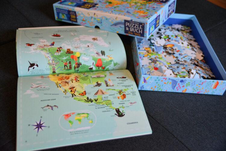 Puzzle & Buch Mein Weltatlas