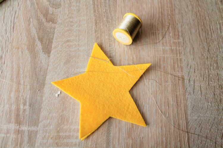 Stern aus Filz