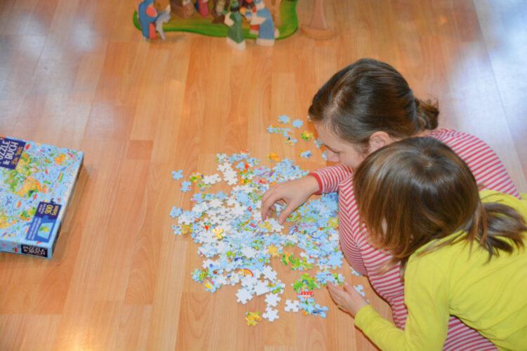 Puzzle & Buch Die Weltkarte