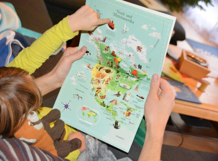 Puzzle & Buch Weltatlas Kinder