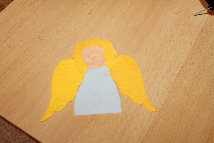 Filzanhänger Engel