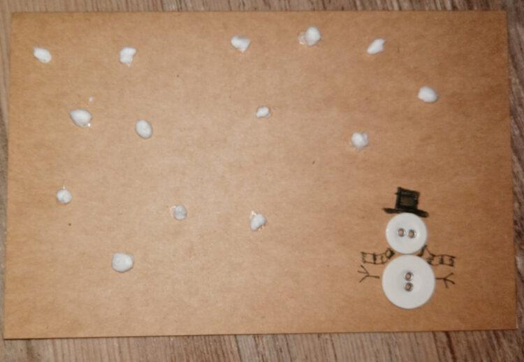 Schneemann-Weihnachtskarten