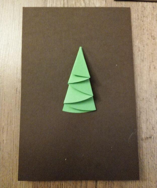 Weihnachtsbaum-Weihnachtskarte