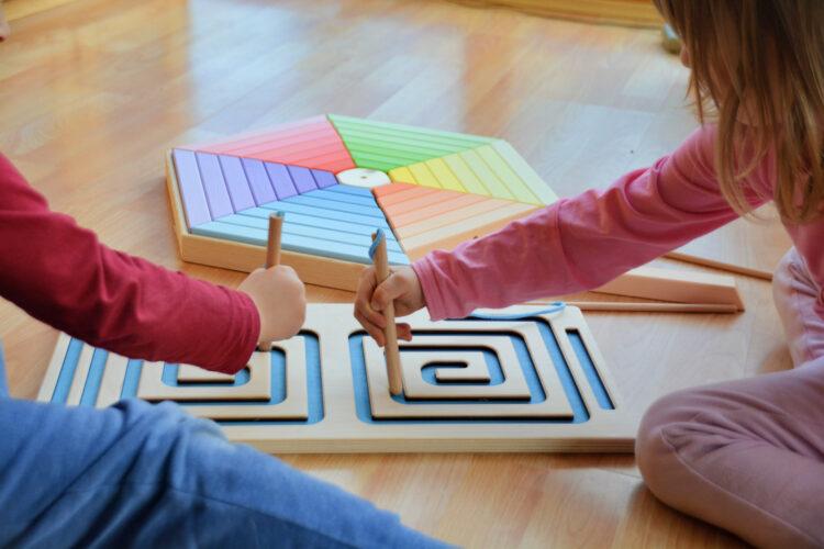 Spielspecht Holzspielzeug Hexitrap Schneckenlabyrinth