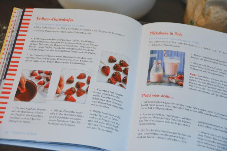 Dekoration mit Erdbeeren