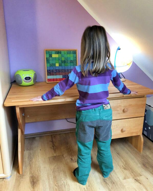 Schreibtisch für das Vorschulkind