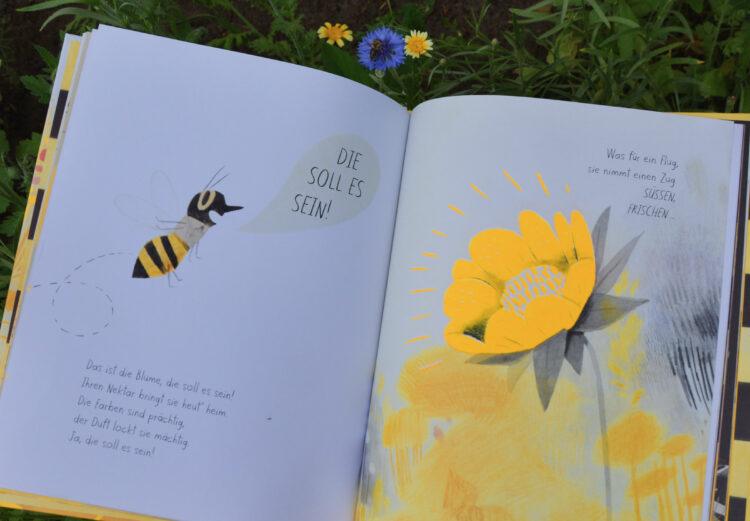 Honigbiene trifft auf Blume
