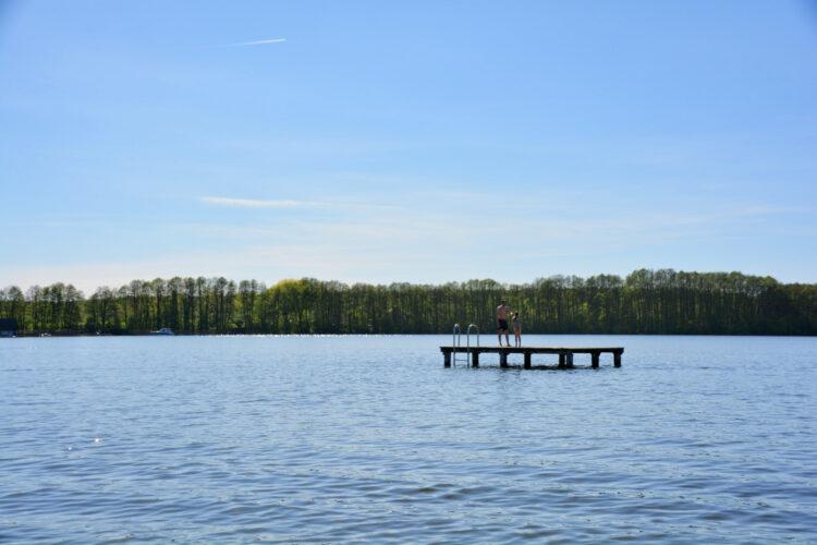 Anbaden im Frühling in Mirow