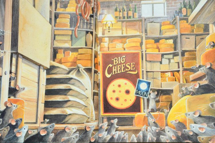 Mond aus Käse