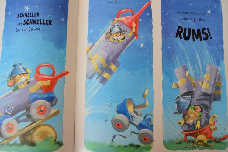 Maus in einer Rakete