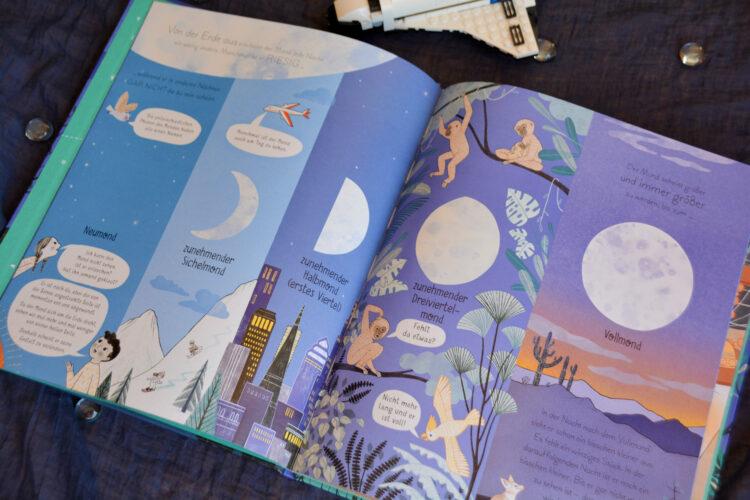 Mondphasen illustriert