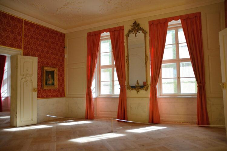 Schlafzimmer im Schloss Mirow