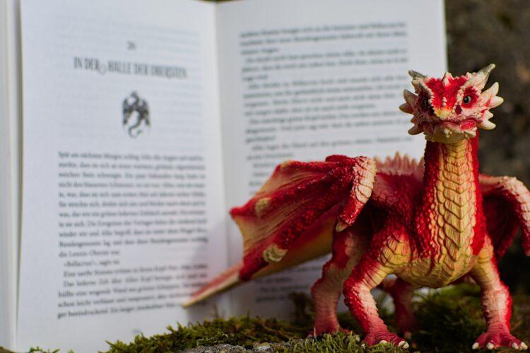 Drache Silberdrache Fantasybuch