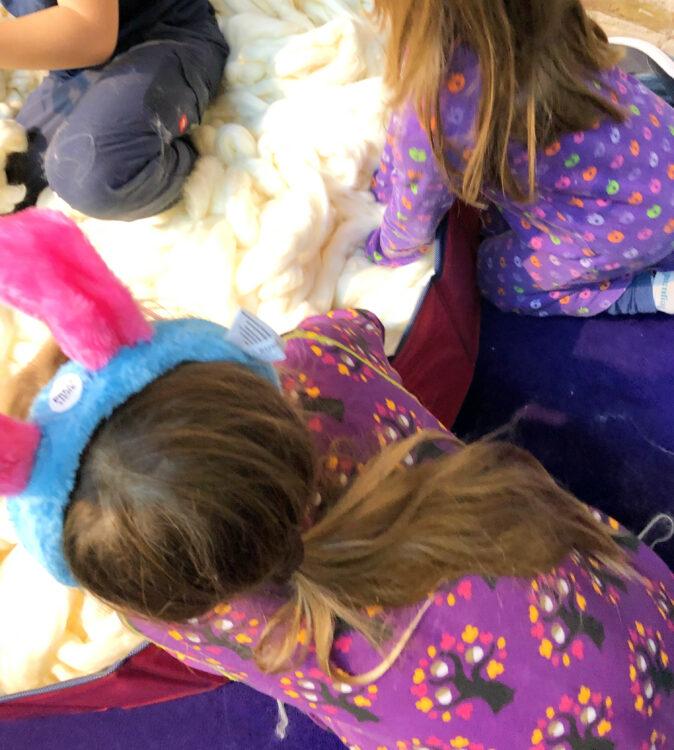 Wolle-Bad beim Shaun Event