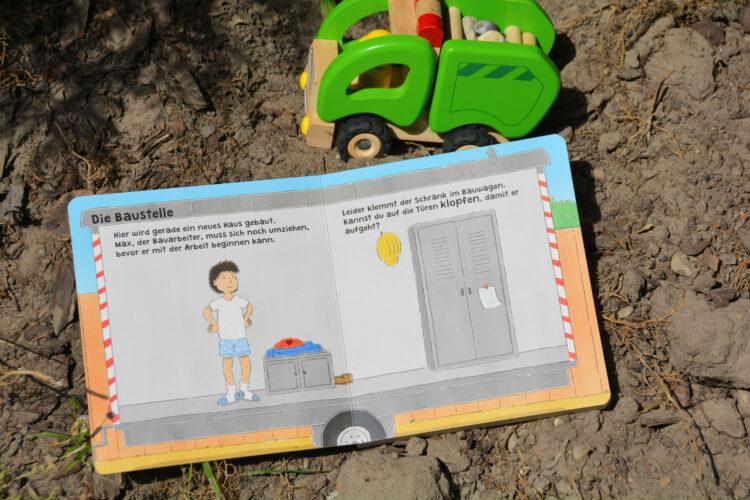 Bauarbeiter auf Arbeit Kinderbuch