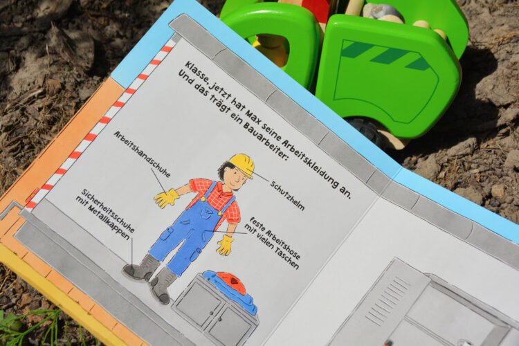 Baustelle Kinderbuch Mitmachbuch