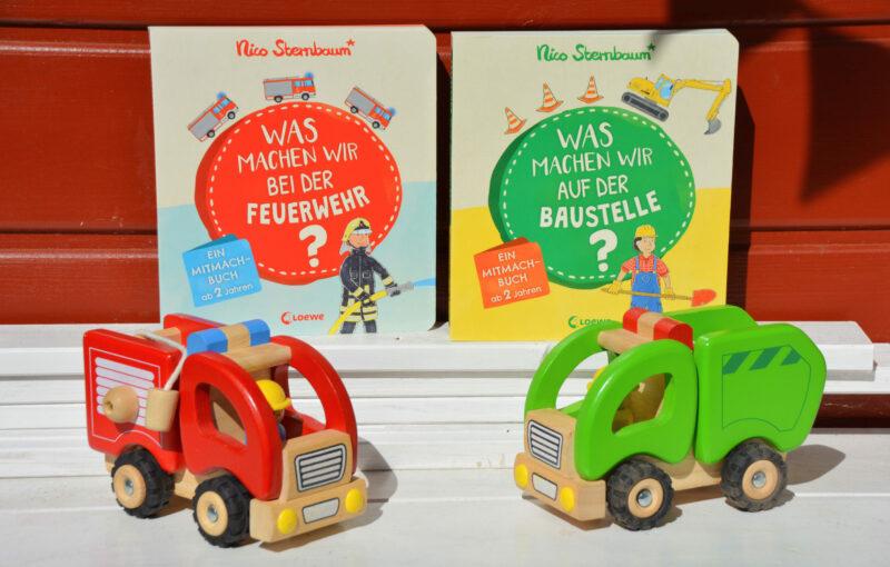 Neue Mitmachbücher von Nico Sternbaum: Was machen wir bei der Feuerwehr und auf der Baustelle? + Gewinnspiel