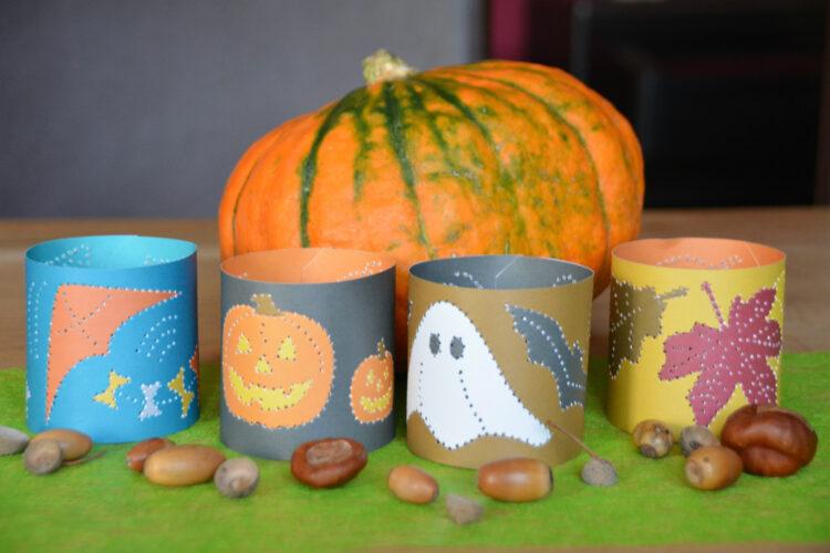 Prickel-Windlichter für Halloween und Herbst