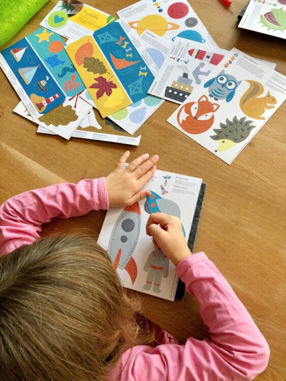 Kinder lieben Prickelbilder