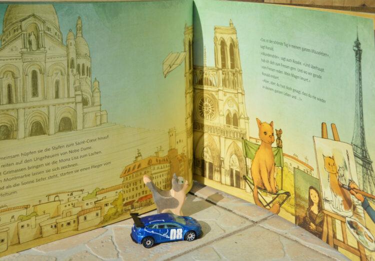 Paris mit Katze und Maus