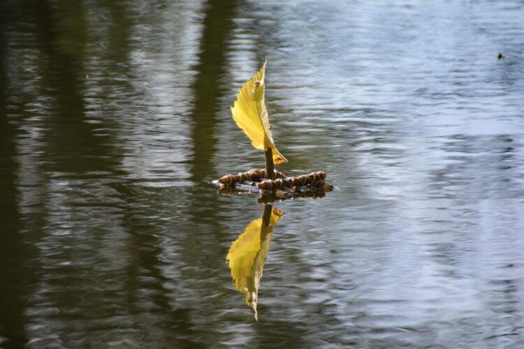 Floß auf dem Wasser