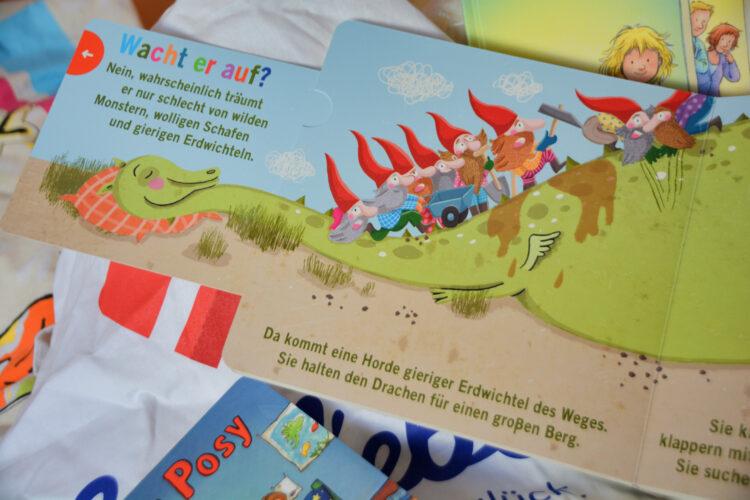 Kinderbuch mit Drache und Zwerge