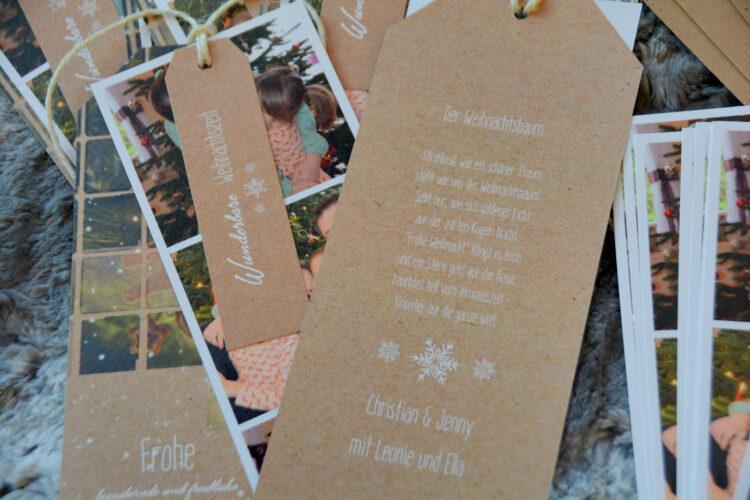 Nachhaltige Weihnachtskarten Büttenpapier