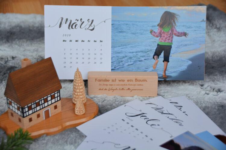 Tischkalender mit Fotos für Oma und Opa