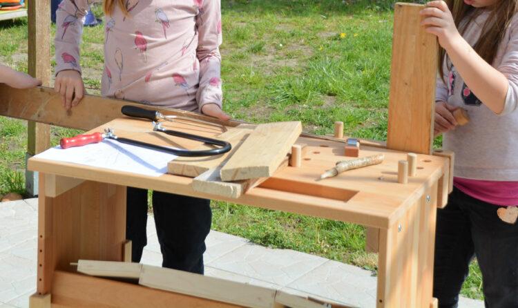 Kindergeburtstag werken mit Holz