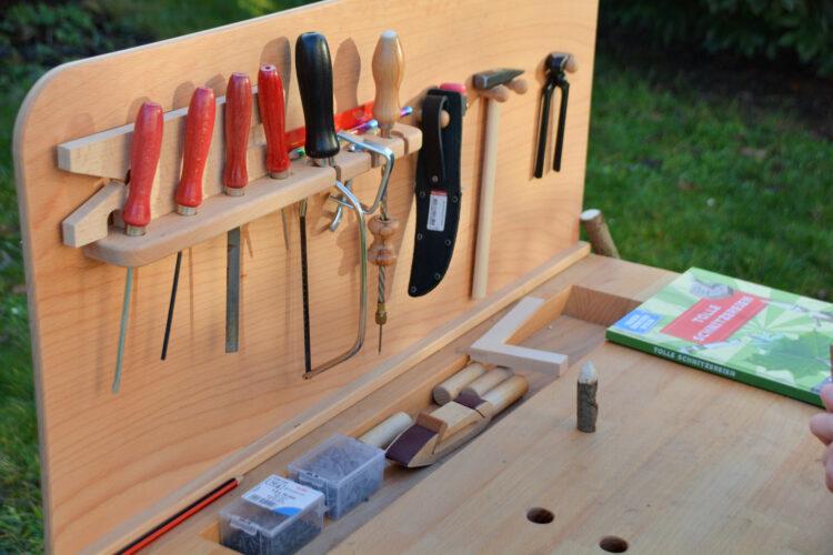Kinderwerkbank Werkzeug