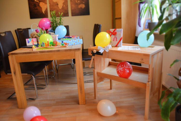 Geburtstags eine Werkbank aus Holz
