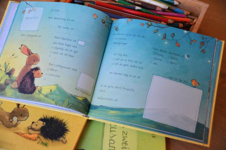 Kindergartenfreundebuch Hase Igel