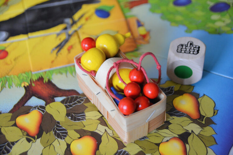 Brettspiel für Kinder Obstgarten