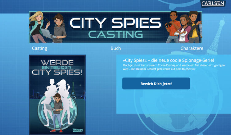 City Spies Buchcover Casting