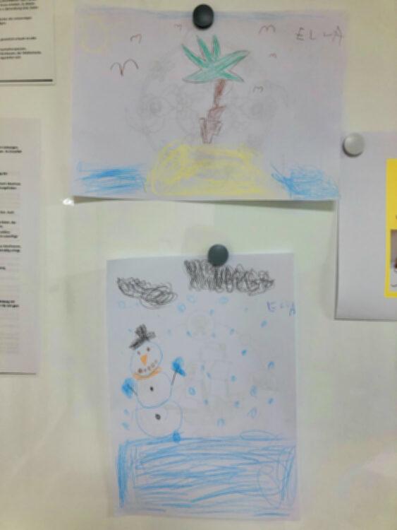 Zeichnungen beim Kinderarzt