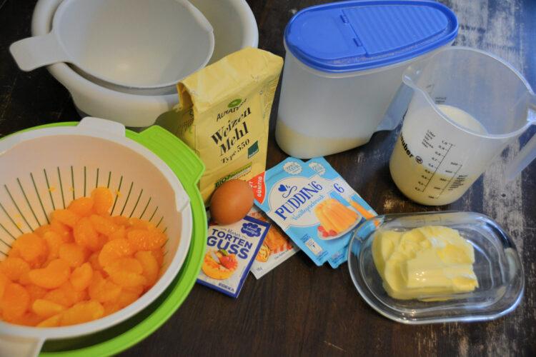 Zutaten Mandarinen-Schmand-Kuchen