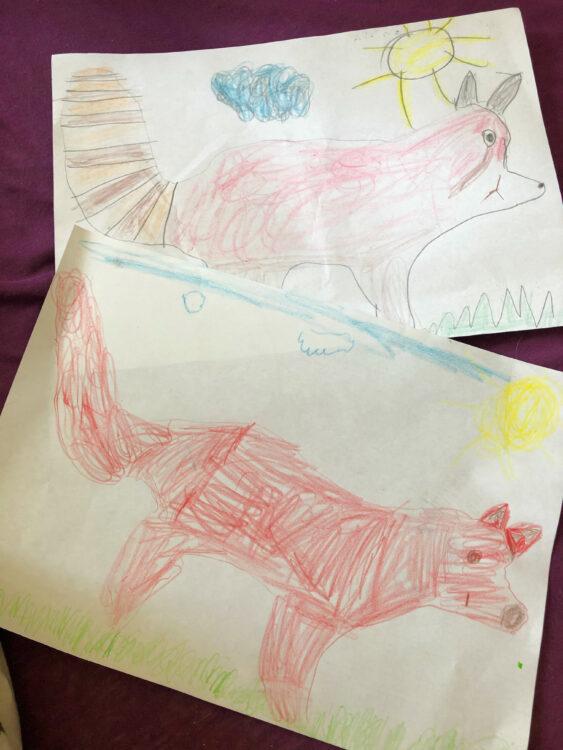 Mutter-Tag mit Fuchs und Katzenbär