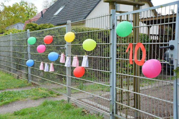 10. Geburtstag Gartenzaun