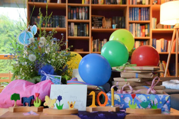 10. Kindergeburtstag Geburtstagstisch