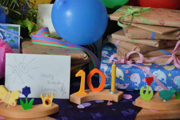 Geburtstagstisch 10 Jahre